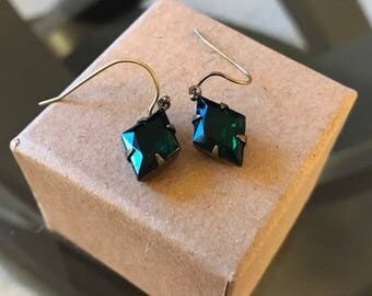 Handmade Emerald Jade Earrings