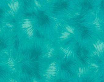 Viola Basics Turquoise Fabric - Timeless Treasures