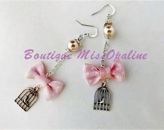 Bohemian earring hanging bird cage