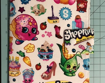 Play Pack Activity Case / Travel Activity Pouch / Marker Pencil Pouch / Crayon Case / Pencil Pouch - Shopkins
