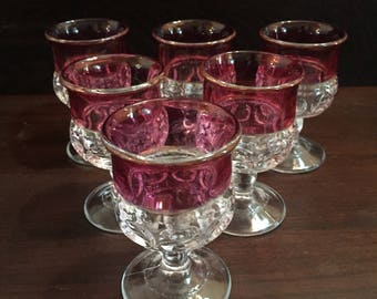 Kings Crown Tumbprint juice glasses (6)