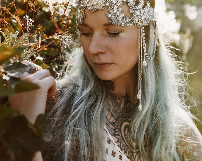 stardust - headpiece, handmade and unique