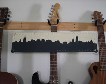 Chicago Cityscape Silhouette Wood Sign