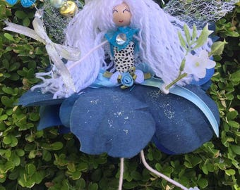handcrafted flower fairy sonia blue