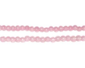 4mm Soft Plum Jade-Style Glass Bead, approx. 105 beads