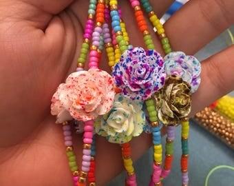 Flower completo Multicolor bracelet