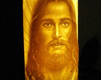 Jesus Lithophane religious Christian art work realistic Jesus head with saying 3-d carved Jesus light - FREE SHIPPING