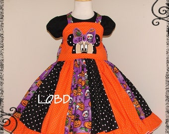 2pc Minnie Halloween Dress Shirt Set - Ready to Ship - trick or treat - Fall Autumn - 3T 4T 3/4 - Holiday