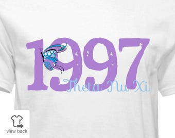 Theta Nu Xi 1997 Butterfly Shirt