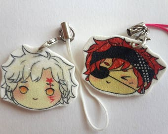D.Gray-Man Lavi Bookman Allen Walker Cute Adorable Keychains Glitter Smartphone