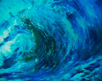 waves painting - waves decal - waves wall decal - waves wall art - ocean waves painting - ocean waves decal - seascape canvas - waterscape