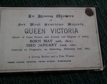 Queen Victoria Death Commemoration card
