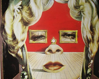 Dali, Dali print , Dali painting, Dalli art print, vintage, vintage print, home decor, wall decor