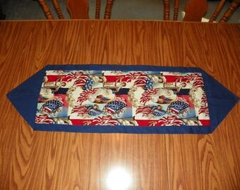 Patriotic Table Runner - American Flag - Children