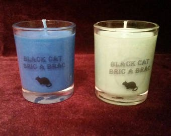 Pagan / Wiccan Scented / Unscented Ritual / Altar Spell & God Goddess Candles All Natural Soy / Cotton Wick Blue Turquoise
