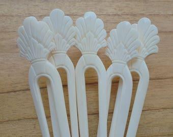 2 Prongs Bone Hair Sticks, Hair Pin, Hair Fork, Hair Accessories HS45