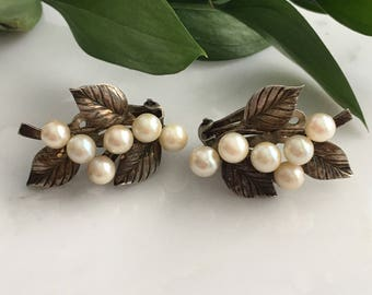 Ming Hawaii Sterling Silver Vintage Earrings