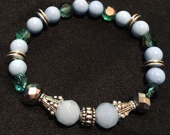 M/L Blue and green soft and sweet bracelet