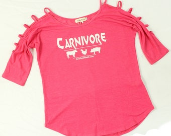 Women's Ladder Sleeve Carnivore Top
