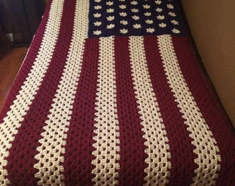 Stars and Stripes Americana Afghan