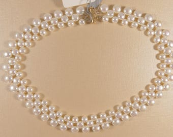 Pearl Necklace, Cultured Pearl Necklace, Button Pearl Necklace, Pearls
