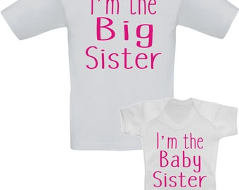 I'm the Big Sister, I'm the Baby Brother/Sister Sibling Set
