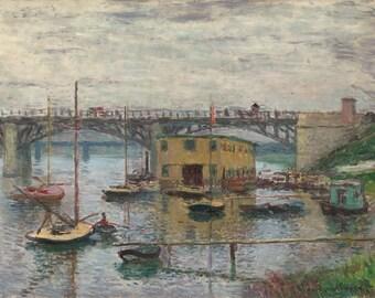 """Claude Monet """"The bridge of Argenteuil, grey"""" 1876."""