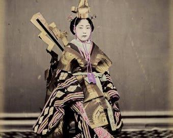 Dancer Osaki Kioto Suzuki Shin'Ichi reproduction on satin paper.