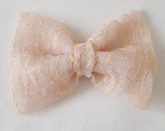 Stunning, bridal, wedding, hair bows children's, adult's, tulle, pink, lace,off white, fashion, clips, hair,