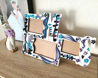 Wood photo frame - Portaretratos de madera