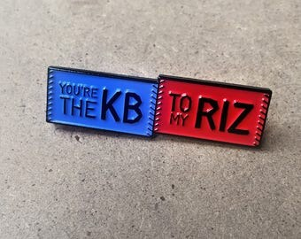 Chicago Cubs Pin – You're the KB to my Rizz! Celebrate your own Friendship with this enamel pin! Bryant Rizzo Perfect Chicago Cubs Fan Gift!