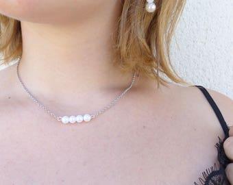 Pearls dangle earrings