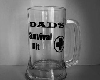 Dad's Survival Kit-Father's Day gift for dads last minute Father's Day gifts - Beer Mug