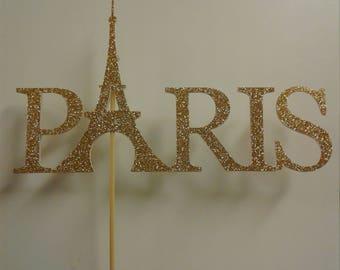 Paris Cake Topper, Party decorations, Room decor