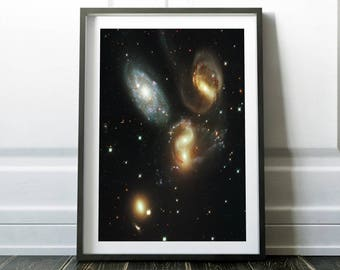 Galaxy print / Space poster / Space print / Space art / Galaxy art / Universe print / Outer space art / Nasa poster / Hubble telescope
