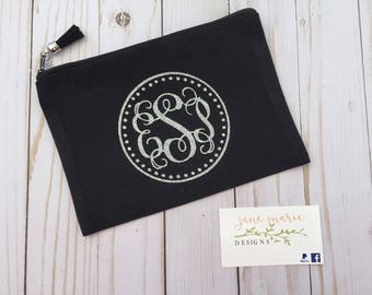 Makeup bag / Pencil pouch / monogram