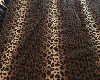 Leopard print fleece tie blanket