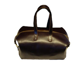 Leather Duffle Bag Weekend Bag Overnight Bag HAND MADE