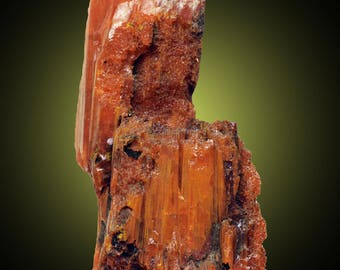 Crocoite; Dundas, Tasmania, Australia  --- minerals and crystals