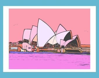 Sydney Opera House - Signed Giclée Print by Keith Browning