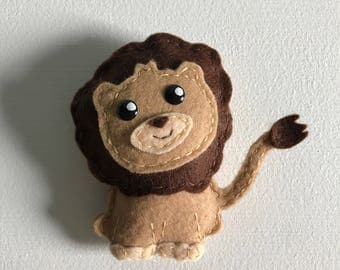 Little Lion Felt Ornament