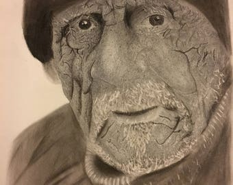 A handmade drawing with realism in it. Capturing the details in the artwork.