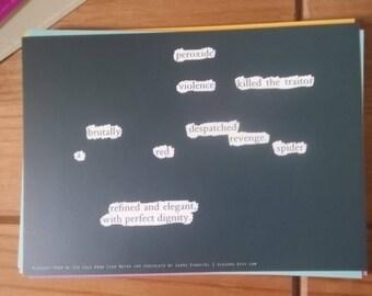 "Blackout Poem {003.} Poetry Art Print Postcard 5"" x 7"""