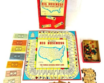 Big Business Famous National Money Board Game 1948 Transogram Gold Medal