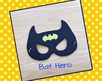 Inspired Batman Mask -Halloween Mask/Costume-Dress Up-Pretend Play-Imaginary Play- Birthday Party Favor-Theme Parties-Bat Mask-Photo Prop