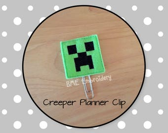 Planner Clip Creeper-Planner Clips-Paper Clip-Journal Clip-Bookmark-Planner Accesories-Planner Supplies-Felt Paper Clip-Creeper Feltie Clip