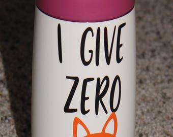 I give zero fox