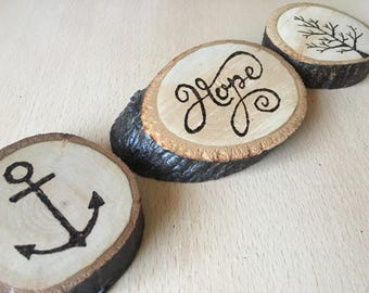 Medium wooden decorations