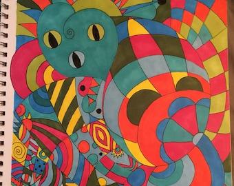 Absract marker art