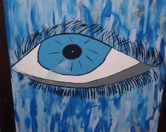 sadden eyes painting